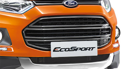 2016 Ford EcoSport Black Signature Edition front bumper grill