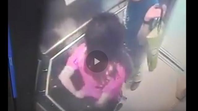 Video Tanpa Rasa Malu, Wanita Bersama Pacarnya di Dalam Lift Lakukan Hal Menjijikan Ini. Terekam CCTV