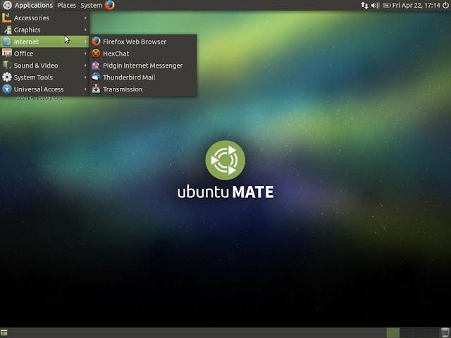 Traditional mate application menu