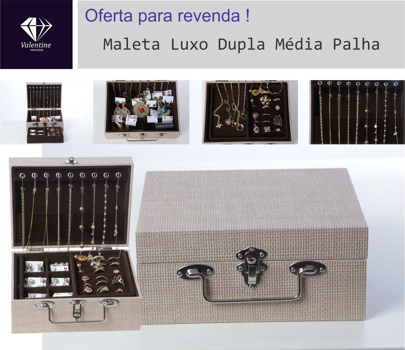 Valentine Semi Joias  Atacado Kit 58 Pçs Semi-jóias Folheadas + ... e056d394e7