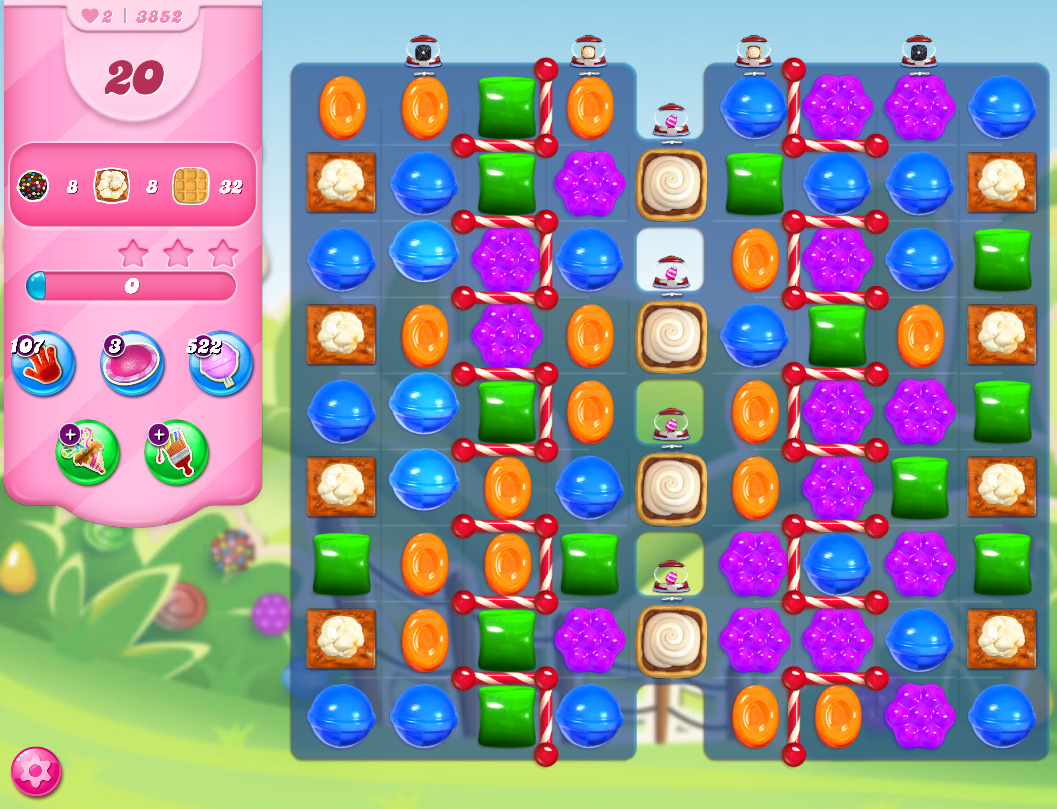 Candy Crush Saga level 3852