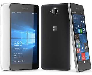 Smartphone murah keluaran Microsoft, Lumia 650 harga sekitar 2 jutaan.