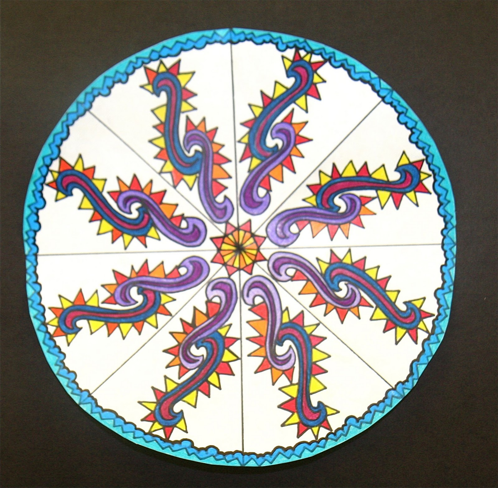 Splish Splash Splatter Rotational Symmetry