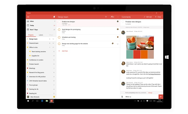 Todoist app for Windows 10 is here