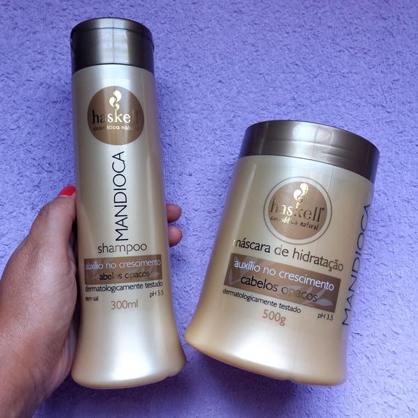 Comprinhas-do-mês-para-cuidados-com-cabelos-shampoo-máscara-haskell