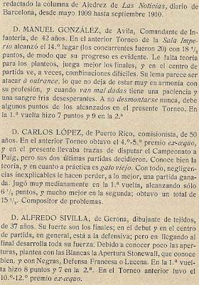 Notas sobre los participantes en el Torneo de Ajedrez para el Campeonato de Barcelona de 1913 (2)