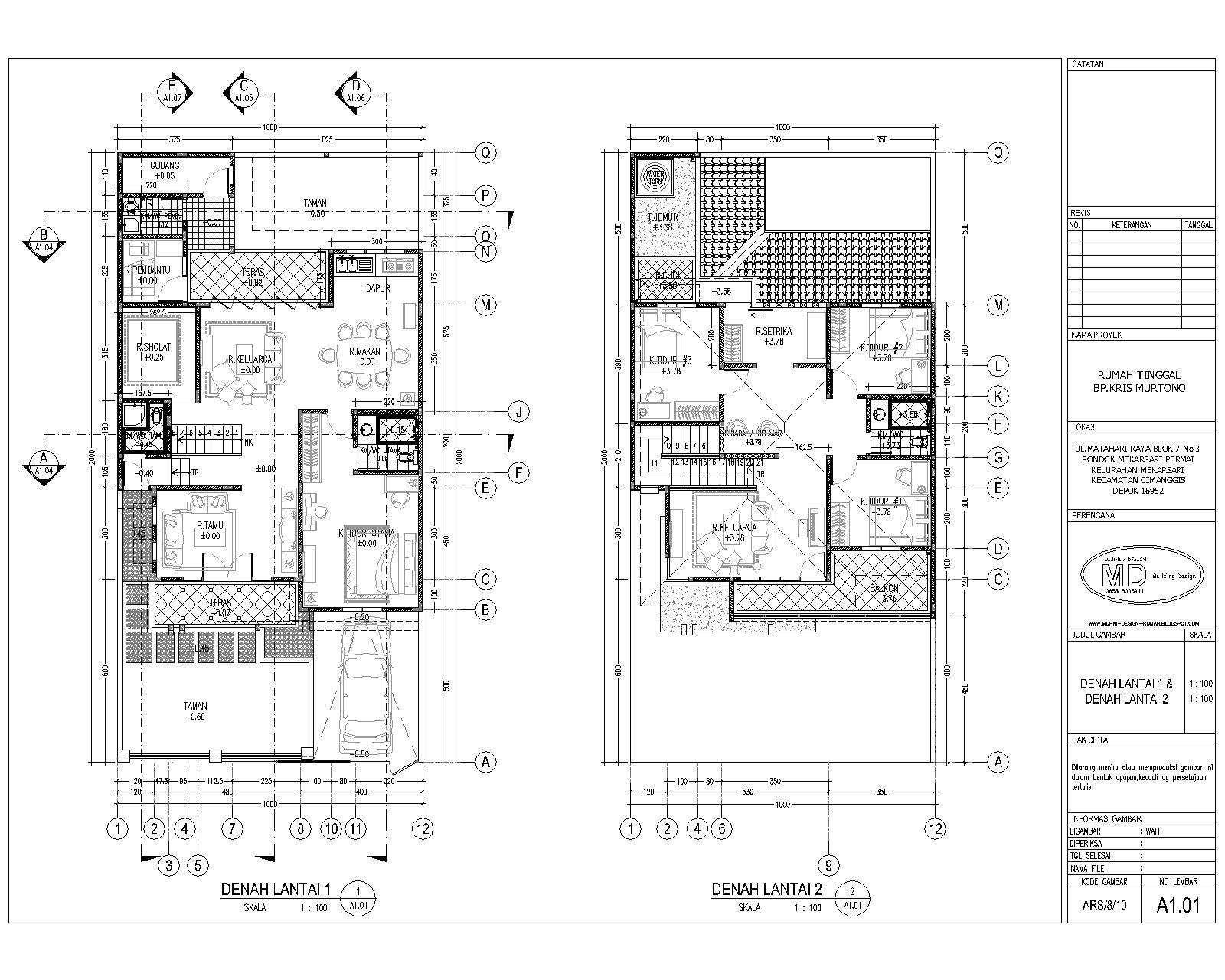 gambar denah rumah minimalis 2 lantai type 36 4