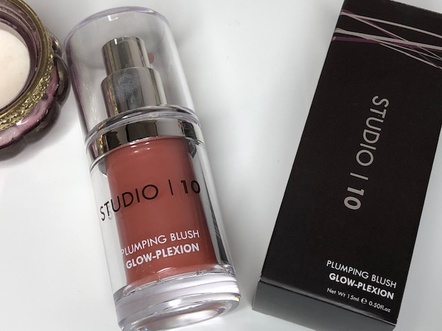 Studio 10 Makeup Plumping Blush Glow-Plexion + Lip Perfecting Balm Gloss