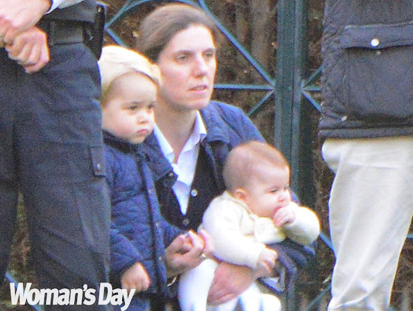 Princess Charlotte finally re-emerged with big brother, Prince George and their nanny, Maria Borrallo, Little Charlotte.