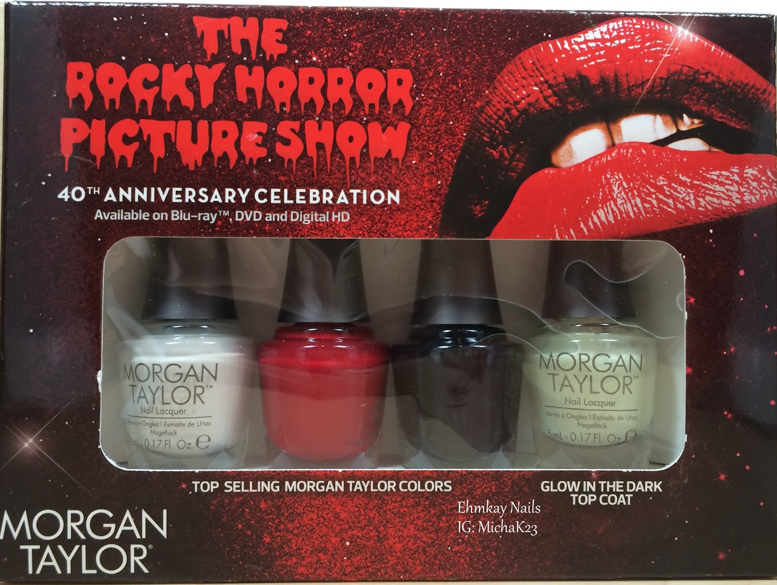 Ehmkay Nails Morgan Taylor The Rocky Horror Picture Show 40th