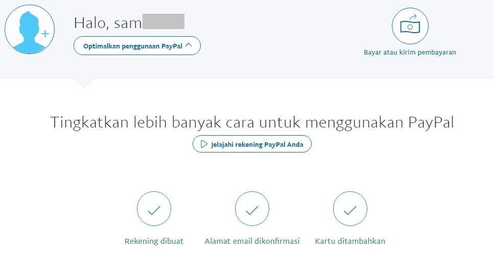 Paypal Terverifikasi
