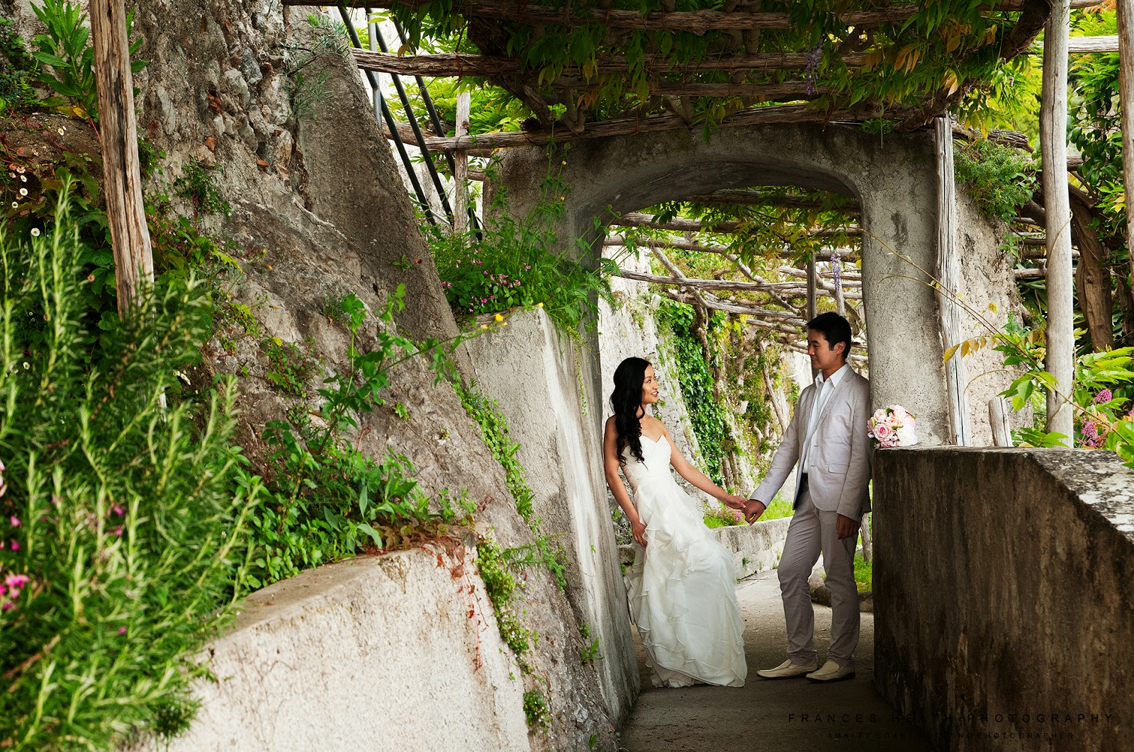 Wedding portrait at Hotel Convento Amalfi