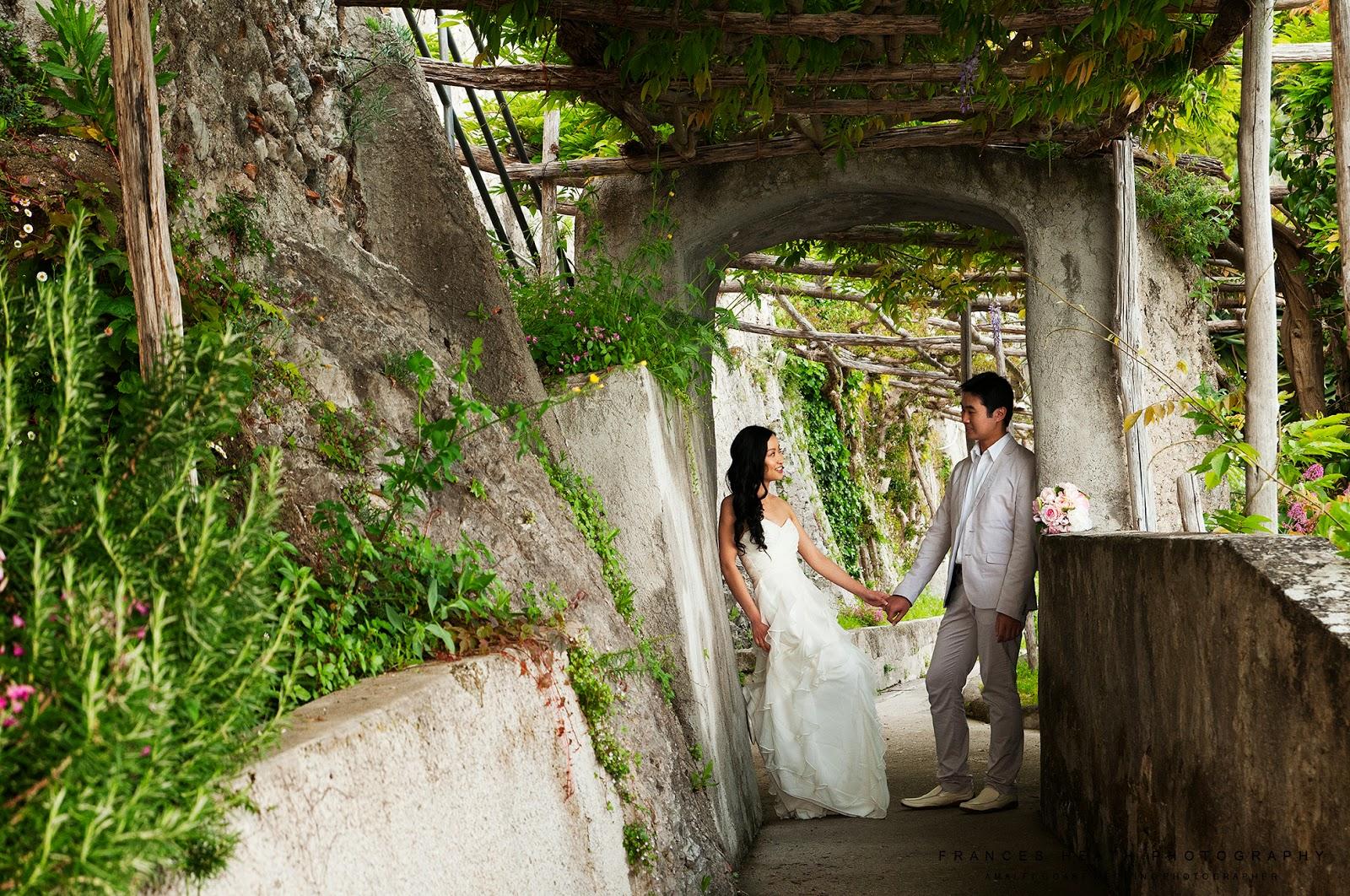 Wedding portrait at Hotel Convento Amalfi