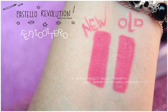 fenicottero comparazioni BioPastello labbra Neve Cosmetics  pastello revolution
