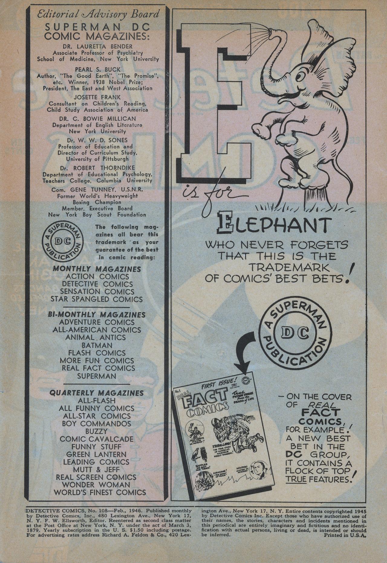 Read online Detective Comics (1937) comic -  Issue #108 - 2