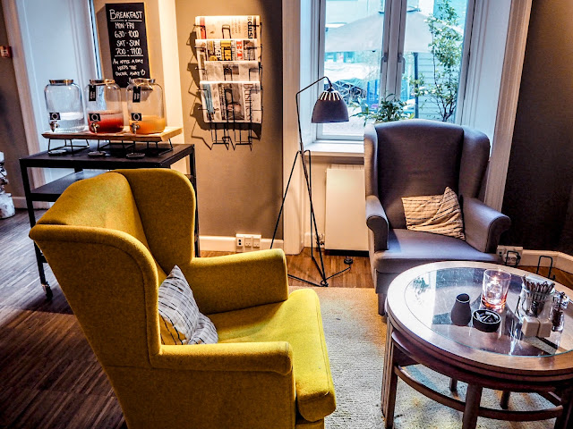 Hygge reception area at Ibsens Hotel