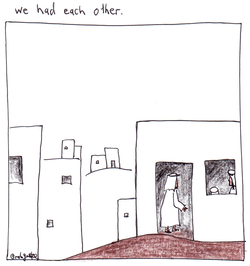 we had each other, drawing by rob g