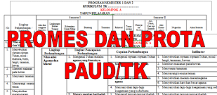 Download Promes dan Prota TK/PAUD
