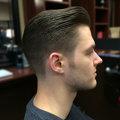 medium length fade with pompadour