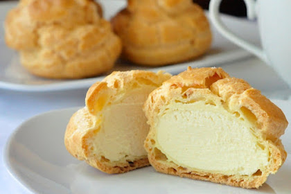 Frozen White Chocolate Cream Puffs Recipe