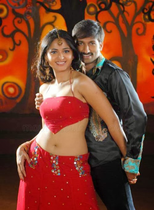 Anushka Shetty sexy navel photos, Anushka Shetty hot in red