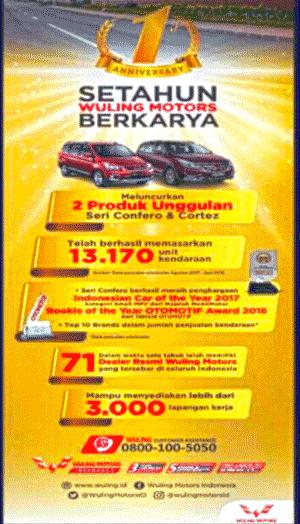 Penjualan Mobil Wuling di Indonesia Selama 1 tahun