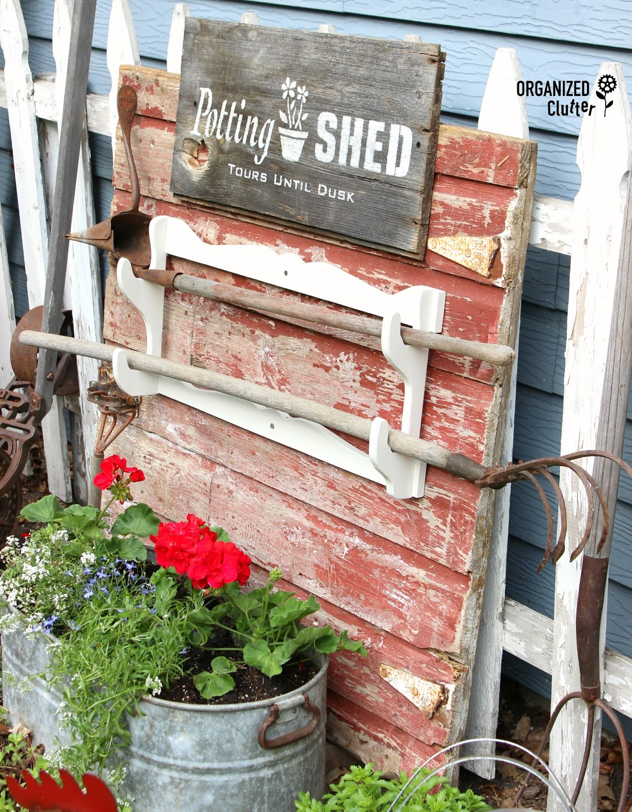 Superieur The Bottom Half Of An Old Barn Dutch Type Door Became The Perfect Backdrop  For A Potting Shed Sign Stenciled With A New Garden Stencil From Funky Junk  ...