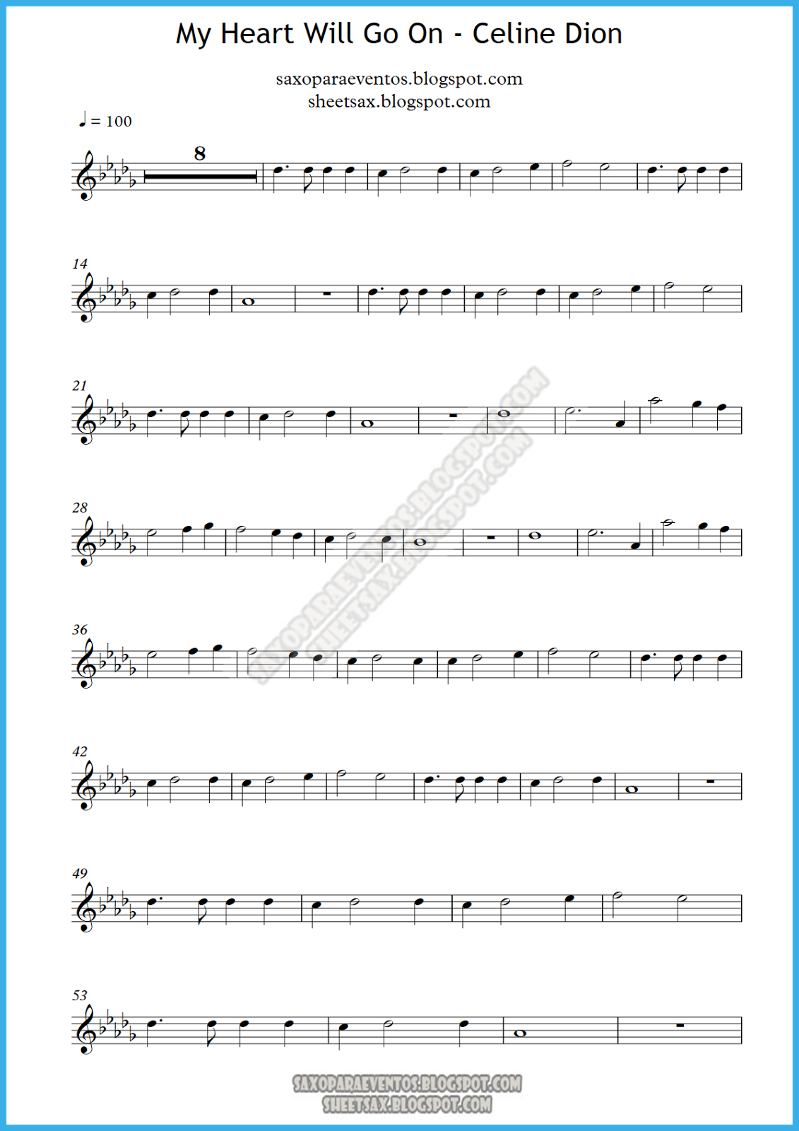 Celine Dion My Heart Will Go On Piano Sheet Music Pdf Used