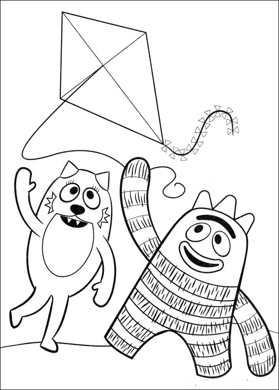 yogabbagabba coloring pages - photo #16