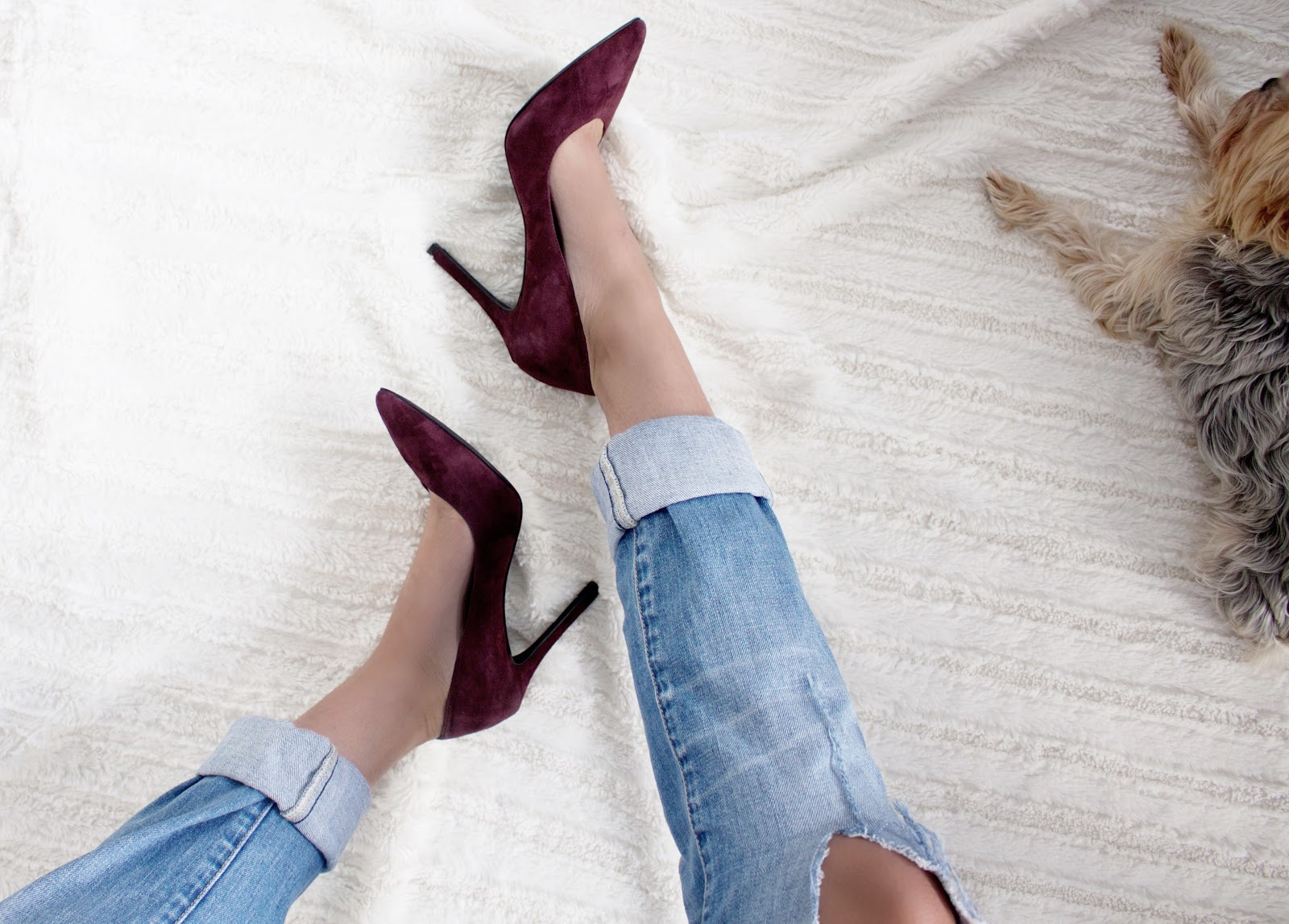revolve suede pumps