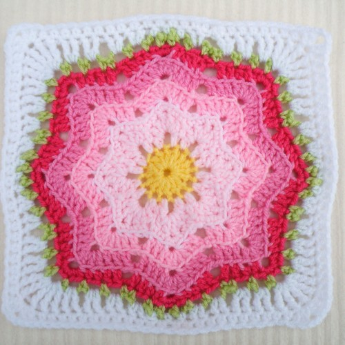 Nordic Star Afghan Square - Free Pattern