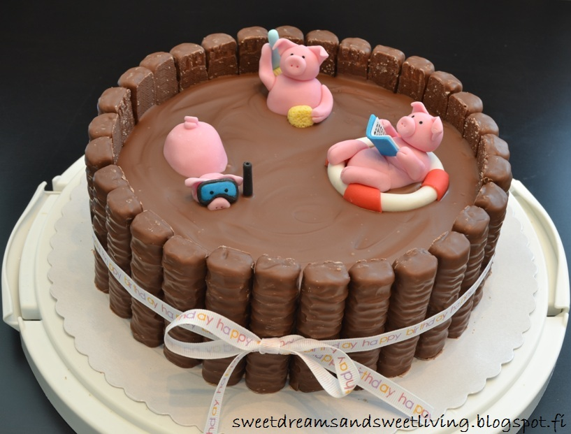 Sweet Dreams And Sweet Living Swimming Pigs Twix Cake