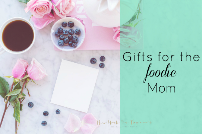 table with food for mother's day gifts