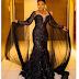 Actress, Iyabo Ojo Exhibit Her Beautiful Black Gown