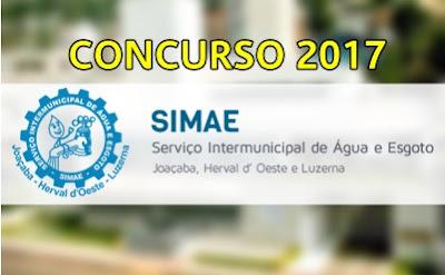 Concurso SIMAE-SC 2017