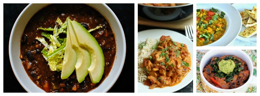 comforting recipes - chilli and curry