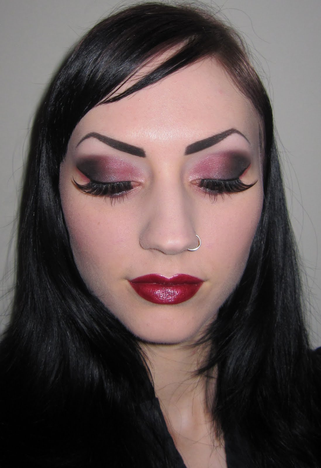 Pink Makeup Brushes: Glitter Is My Crack...: Pink Smokey Makeup Look With Sobe