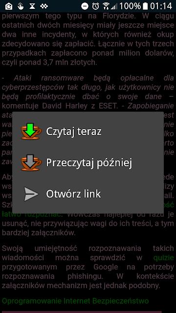 Menu Kontekstowe Linków.