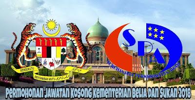 Permohonan Jawatan Kosong Kementerian Belia dan Sukan 2018