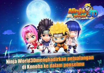 Naruto Ninja World 3D Pro v2.1.17 MOD APK Terbaru 2016