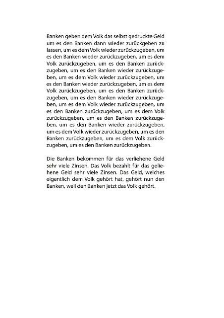 Dr. Kristian Stuhl 2012, Banken, A4, Das Klo spült alles fort
