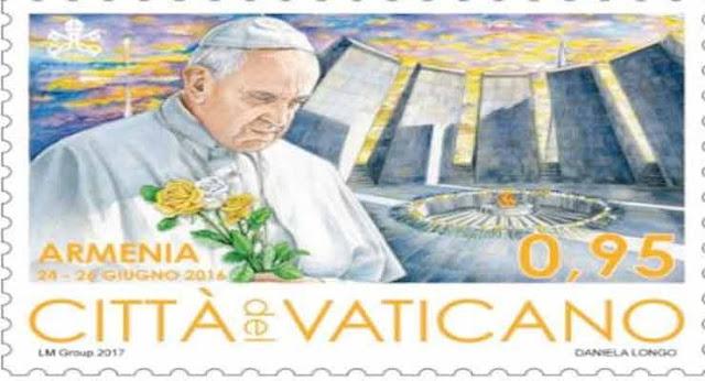 Vaticano publica sello del Papa en el memorial del Genocidio Armenio