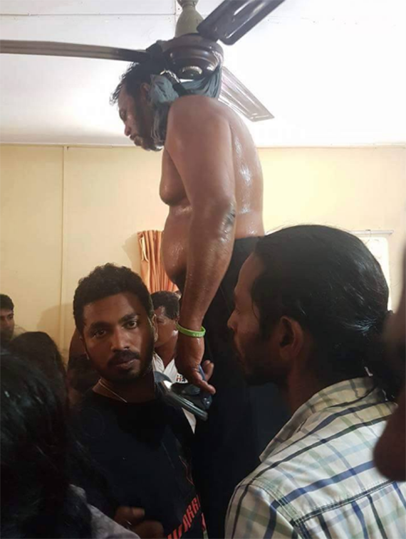 Palitha Thewarapperuma committed suicide - Photos