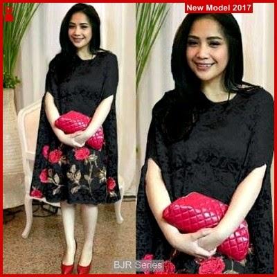 BJR037 Fashion Nagita Black Wanita Dewasa Murah Grosir