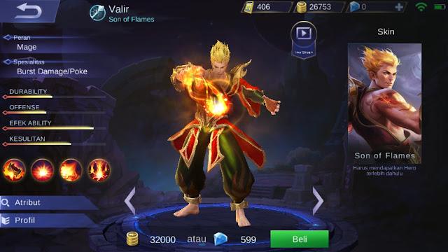 Tutorial, Tips, dan Cara Menggunakan Hero Valir Mobile Legends