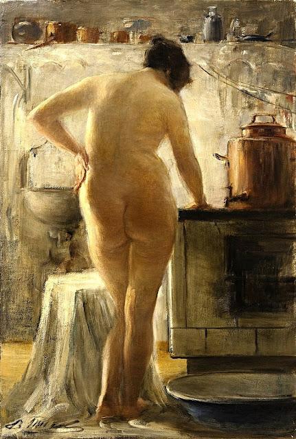 Vitaly Gavrilovitsj Tichov - nudo femminile - arte - dipinti