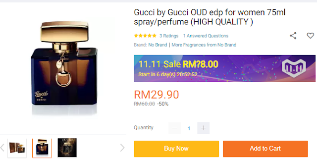 Lazada 11.11 Blogger Contest: The Biggest One Day Sale, 11.11 Shopping Festival, Lazada Sale, Lazada Malaysia, Perfume Gucci,