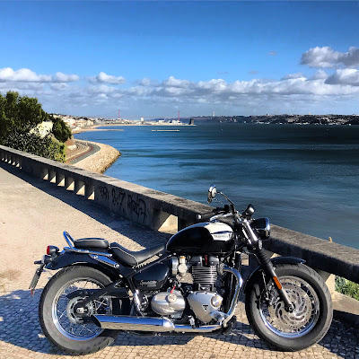 portugal estrada nacional 6 marginal cascais triumph bonneville speedmaster