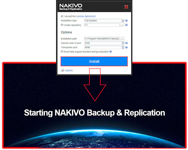 NAKIVO Backup & Replication v7.1: Instalación.