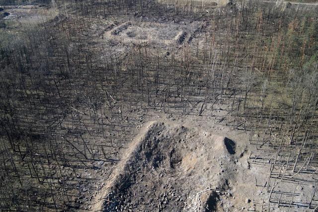 Калиновка. На территории 600 гектаров в лесу расположили 150 площадок для хранения боеприпасов.